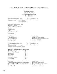 Scholarship Resume Examples Scholarship Resume Example Activities