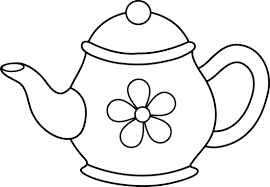 Small Picture Teapot Coloring Page Clip Art Library