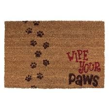 home ideas proven coir rug beige 18 in x 30 and vinyl door mat 20815