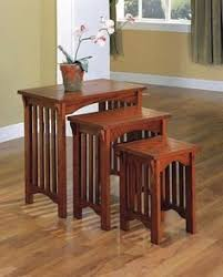 coaster 901049 mission style occasional nesting side table set oak nesting tables free delivery possible on eligible purchases