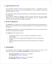 help desk service level agreement template sample service level agreement 9 examples in word pdf