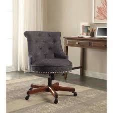 rustic office chair. Sinclair Dark Blue Office Chair With Walnut Wood Base Rustic