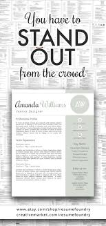 Amazing Resumes Amazing resume template Instant download use with Microsoft Word 55