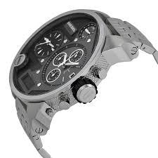 big face watches diesel men s sba silver watch perfection big face watches diesel men s sba silver watch