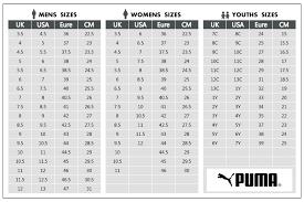 Puma Shoe Size Chart Men Buy Puma Women Shoes Size Chart 63 Off Share Discount