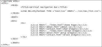 Turning HTML Lists into Navigation bars