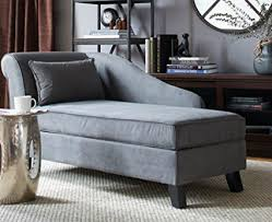 office chaise. Storage Chaise Lounge Chair -This Microfiber Upholstered Lounger Is Perfect For Your Home Or Office O