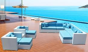 pc outdoor wicker sectional sofa patio furniture set white ocean with white wicker outdoor furniture patio furniture white wicker