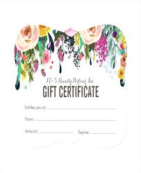 Blank Gift Voucher Template Claff Co