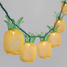 wire pineapple 10 bulb string lights world market throughout outdoor plans 17