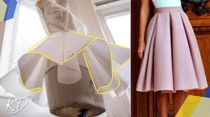 Skirt Pattern Delectable HOW TO DRAFT BOX PLEATED CIRCLE SKIRT PATTERN KIM DAVE YouTube