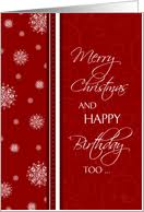 Christmas Birthday Cards Birthday On Christmas Cards From Greeting Card Universe