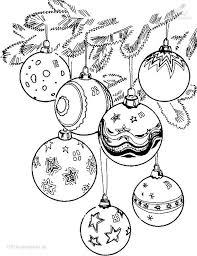 Ausmalbild Weihnachtskugeln Weihnachtsmalvorlagen
