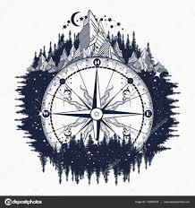 фото горный компас античный горный компас и роза тату искусства