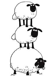 Small Picture The Flock Make Sheep Stack in Shaun the Sheep Coloring Page The