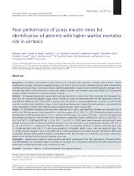 2 02 Skeletal Muscle Chart Pdf Poor Performance Of Psoas Muscle Index For