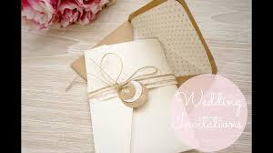 Diy Wedding Invitations Cards Pockets Youtube
