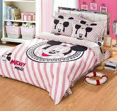 mickey and minnie bed set cute mickey mouse plaid and striped full queen size bedding sets