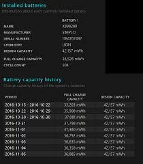 Battery Design Capacity Vs Full Charge Capacity Sp3 Owners Report Your Full Charge Capacity Surface
