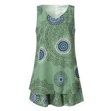 Shift Size Chart Twgone Tank Dresses For Women Casual Plus Size Print Loose Shift Sleeveless Vest Sun Dress