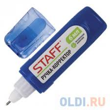 <b>Корректирующая ручка STAFF</b> Ручка-корректор 6 мл — купить по ...