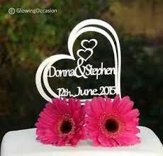 Personalised Name Name Wedding Anniversary Cake Topper