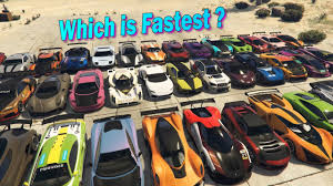 Gta Car Comparison Chart Gta V Online Which Is Fastest Out Of All 37 Super Cars Acceleration Part 1 Outdated