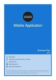Business Plan App Mobile App Business Plan Template