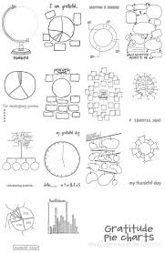 Free Digital Kits Printables Gratitude Pie Charts Free