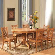 wood dining table set refrence east west furniture 8 piece vancouver oval table dining set oak