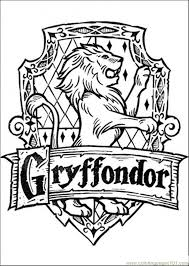 Small Picture Gryffondor Coloring Page Free Harry Potter Coloring Pages