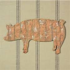 rustic slat wood pig wall art on wooden pig wall art with rustic slat wood pig wall art 48 00 enchanted cottage shop