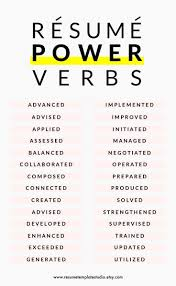Resume Power Verbs And Resume Tips To Boost Your Resume Awesome
