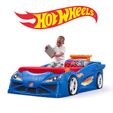 Natural Step Hot Wheels Toddler To Twin Race Car Bed Hot Race Car Kids Bed  Step