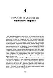 4 The Gatb Its Character And Psychometric Properties