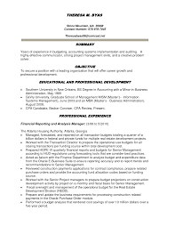 Budget Specialist Sample Resume Awesome Financial Analyst Resume Sample Objective Ideas Entry 23