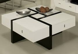 7 black and white coffee tables for a