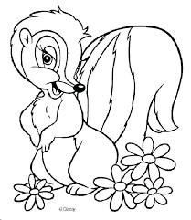 Skunk Coloring Pages Sk Coloring Page Coloring Page Flower The Cute