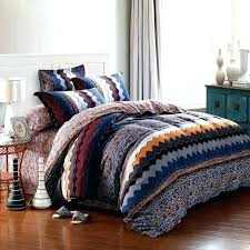 blue and brown bedding sets gypsy bedding gypsy bedding sets navy blue orange and brown zigzag