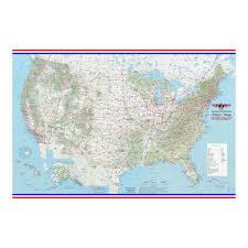 Us Vfr Wall Planning Chart Pilots Laminated Wall Map