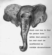 Ghandi Elephant Quote By Ghandi Let Your Light Shine Bright