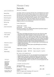 Bartending Resume Template Cool Hospitality Resume Samples Resume Examples Hospitality Bartender