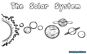 Strikingly Beautiful Solar System Coloring Page Free Printable Pages