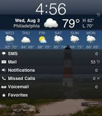How can I add customize weather on my LockInfo screen