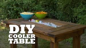 diy outdoor table with cooler. Exellent Diy DIY Table Troff Cooler To Diy Outdoor With S