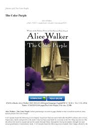 Read The Color Purple Book Online 44812 Francofestnet