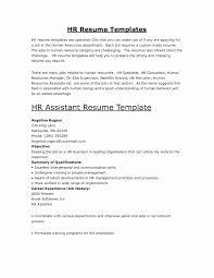 Human Resources Assistant Resume Human Resources Job Description Resume Best Of Hr Assistant Cv 11