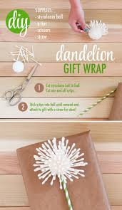 dandelion gift wrap idea - wishing you the best - make a wish birthday gift  wrapping idea - q-tip craft - graduation present wrapping - creative  homemade ...