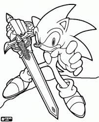 Sir Sonic Sonic Met Het Zwaard Van Een Ridder Kleurplaat Coloring