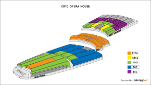Lyric Opera Seating Chart Civic Opera House Seating Chicago Civic Opera House Seating
